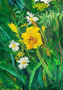 Lilies and Daisies.