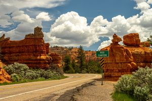 Drive Through Red Canyon