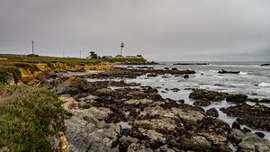 Rugged Shore At Pigeon Point