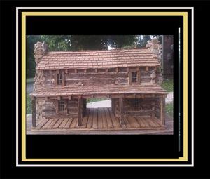 Southern Dog Trot Cabin with porch