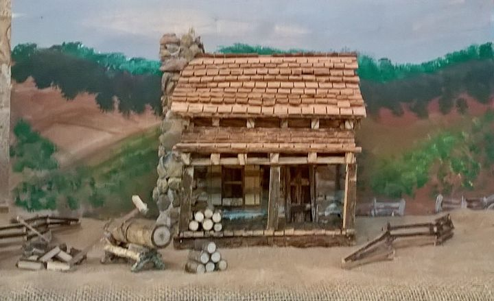 Homestead Log Cabin - Miniatures By Philip Crews