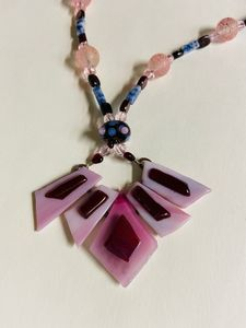 Garnets 'n Glass Necklace