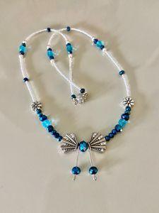 Sparkling Blue & Rhinestone Bow