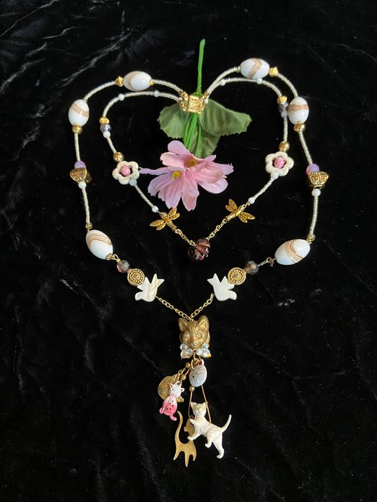 Pussy Galore 2 Strand Bead Necklace - SonSource Arts