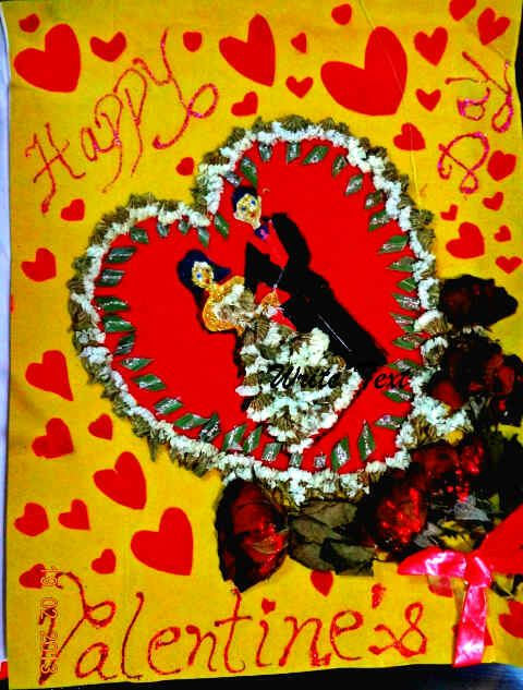 Inner view of Valentines handmade - luvbyhands handmade cards collection