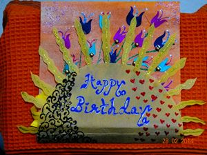 Front View of Handmade Card
