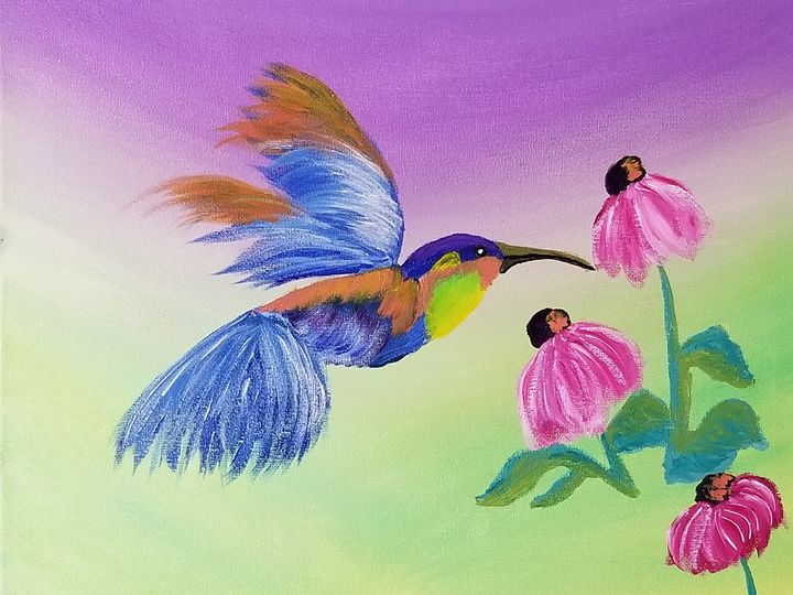 Rainbow Hummingbird - My Heart 2 Yours