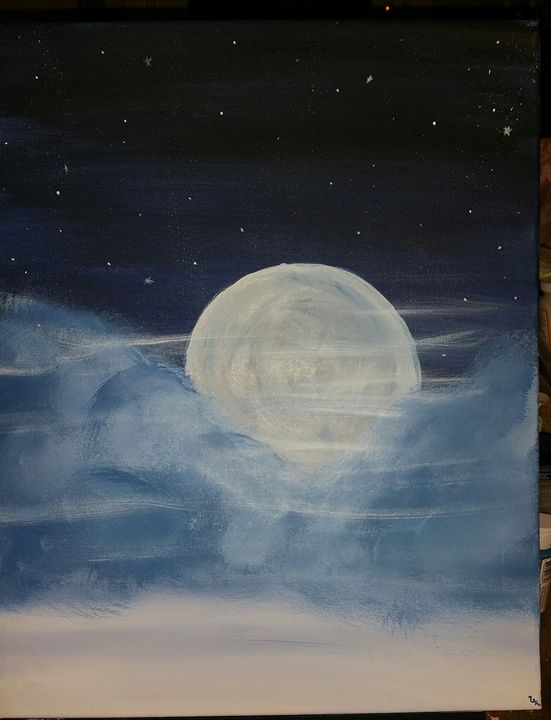 Evening Moon - Healthnhealingart