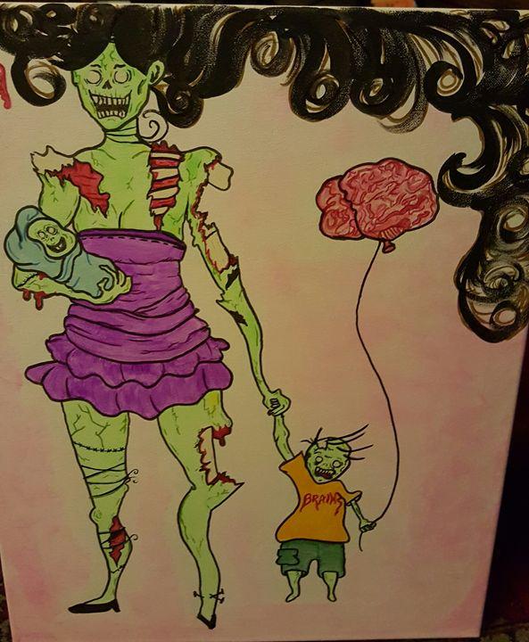 Zombie Mommy Healthnhealingart Paintings Prints Humor