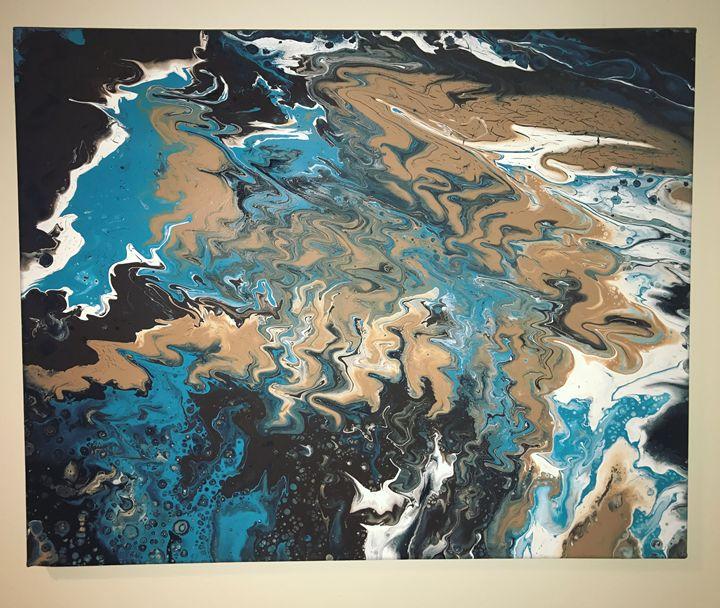 Mocha flow - Gary Stewart Art Design
