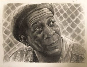 Pencil drawing Morgen Freeman