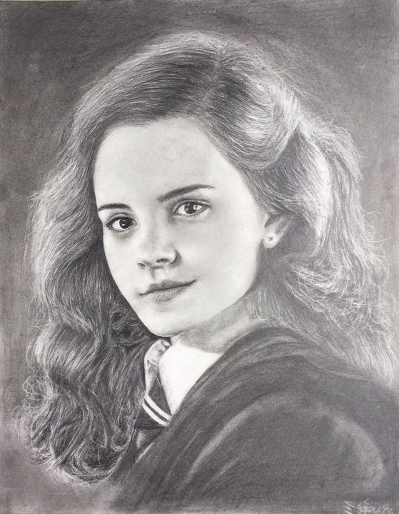 Graphite pencil drawing Emma Watson - Ying's art shop