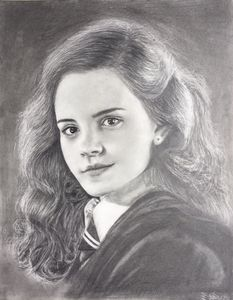 Graphite pencil drawing Emma Watson