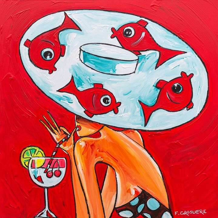 Ronde des poissons - Lovaghy Art Gallery