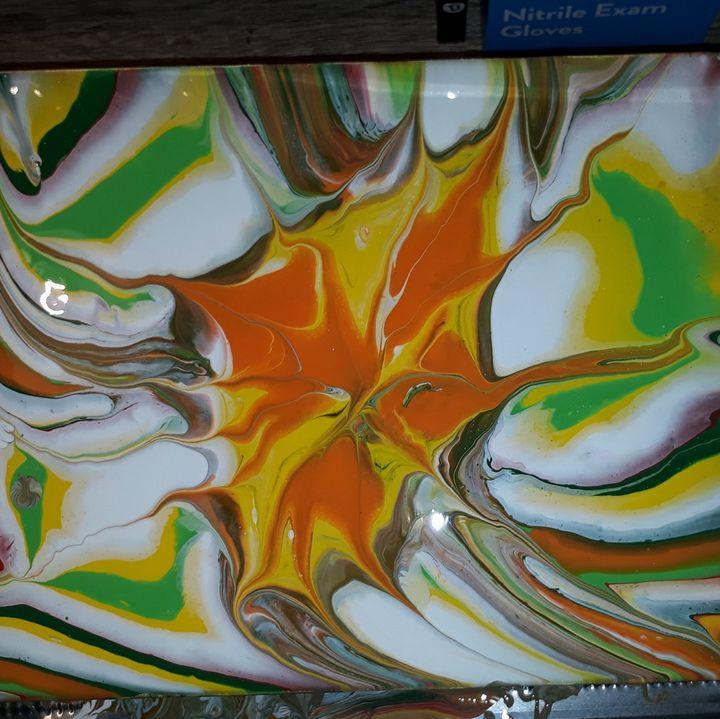 Lynn's colorful flower - Lynn's design's 4u