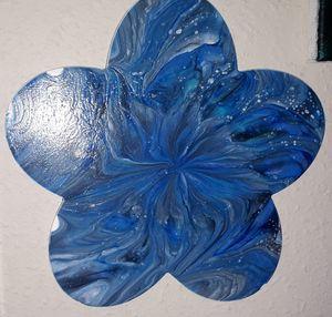 Wood flower painting