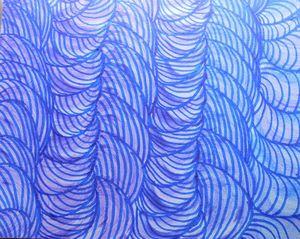 Swirling Blue Scene