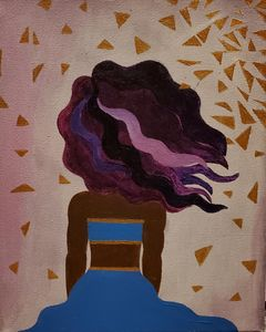 Mystical Lady with Purple Hair