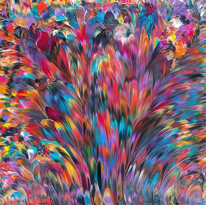 Tropical Blaze, Original Painting - ARomano Art
