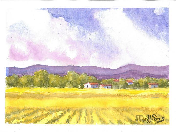 W1036 - Landscape Cyprus - Art in Cyprus by Doloros Pitsillides