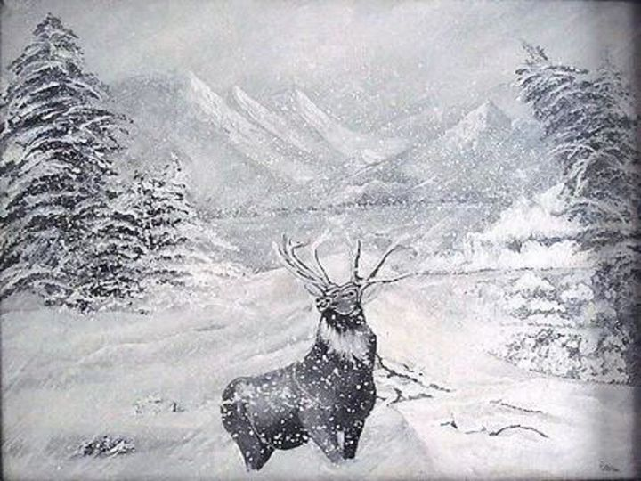 Defiant Old Buck - Paintings By Nana