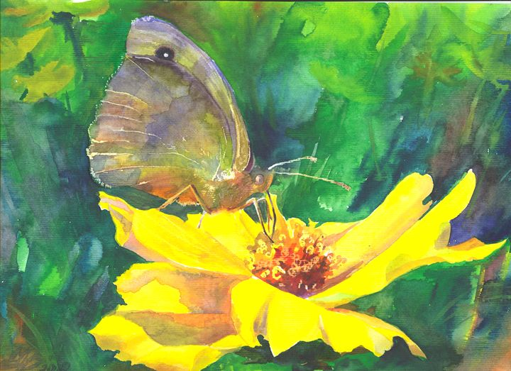 Flower and butterfly#2 - Alla Cherniavska