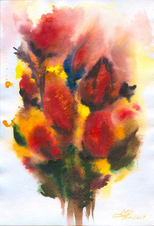 Flowers #4 19.5X29.5cm - Alla Cherniavska