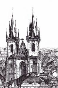 The Tynn Church in Prague