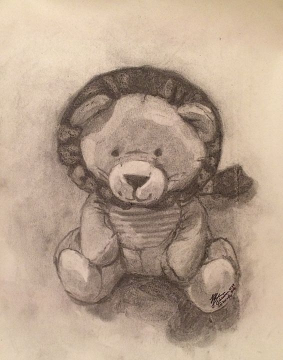 Son's Toy Lion in Charcoal - Mahealani Tukuafu