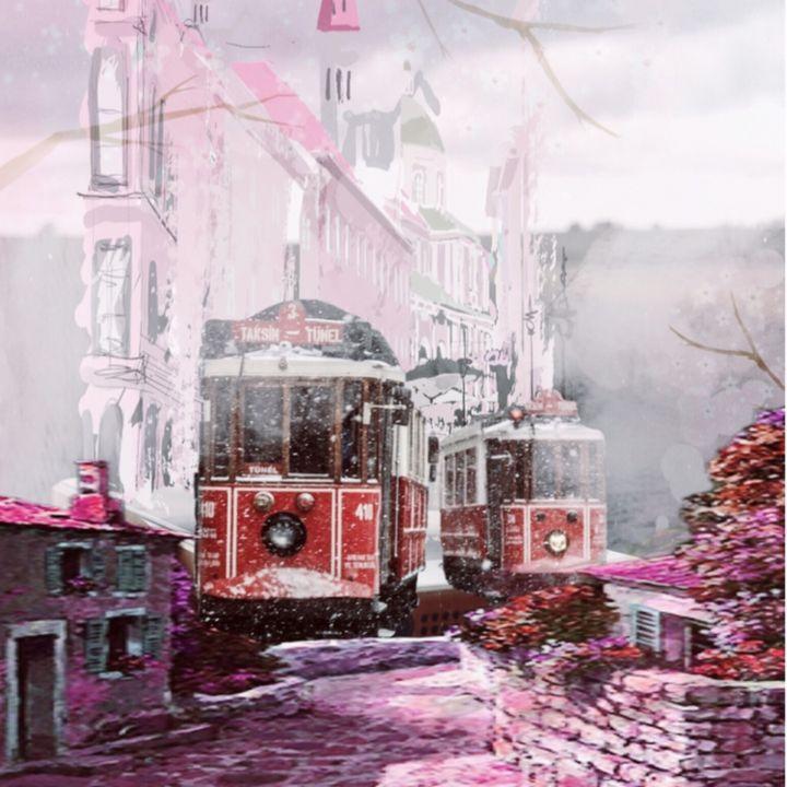 City in Pink - myArt surrealcollagen