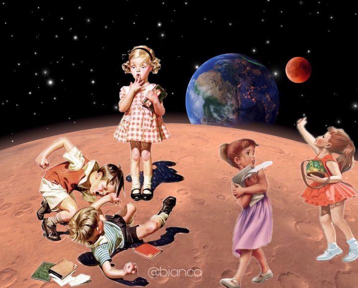 Kids from the Mars - myArt surrealcollagen