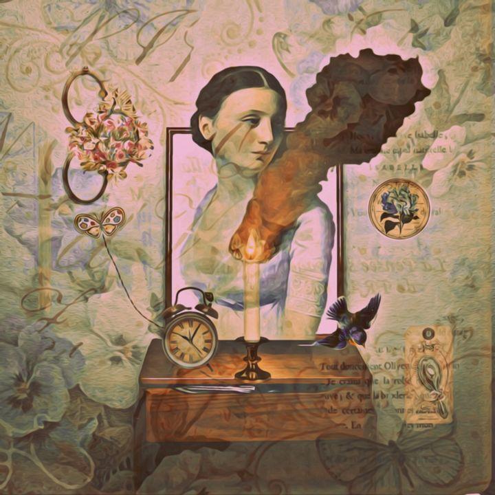 Vintage Lady - myArt surrealcollagen