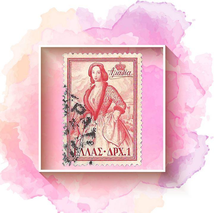 Queen Amalia postage stamp - Super Postman