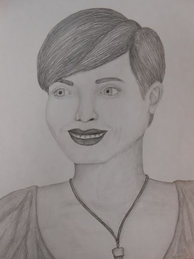 Woman w/ short hair - Lily's Art