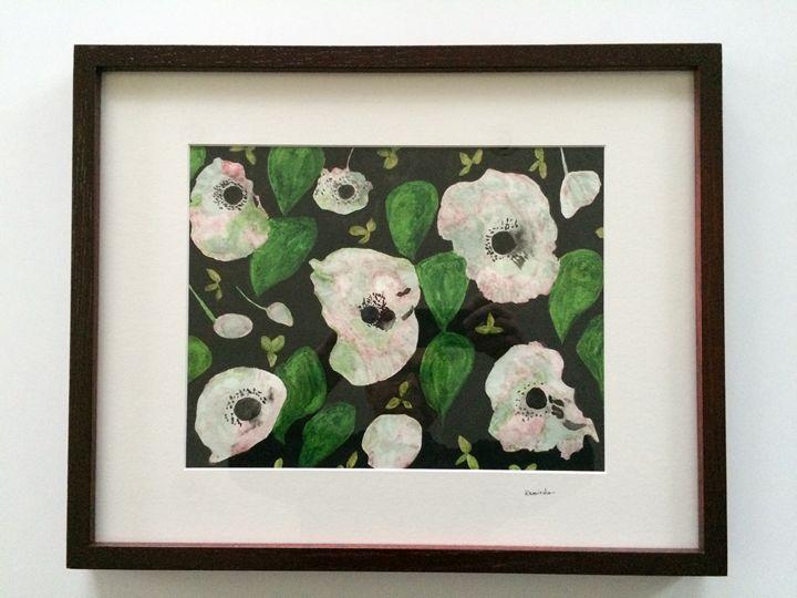 White Poppys - Art Studio of Sophie