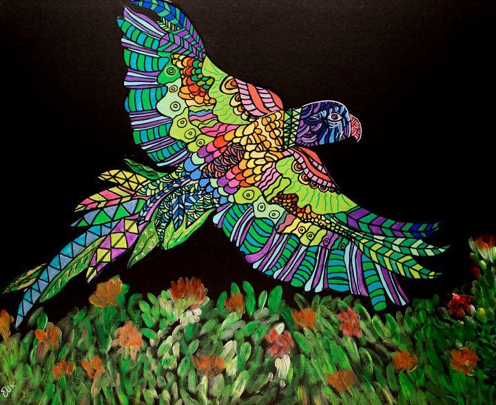Rainbow Flight - Mindful Art by Elise