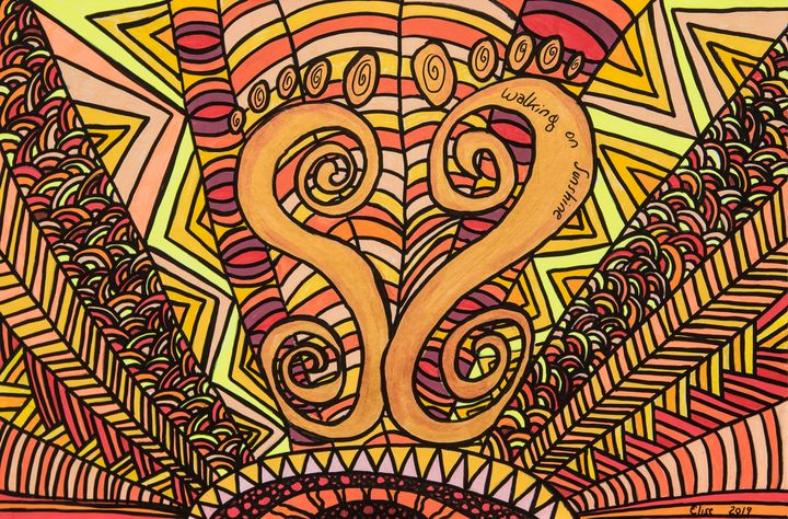 Walking on Sunshine - Mindful Art by Elise