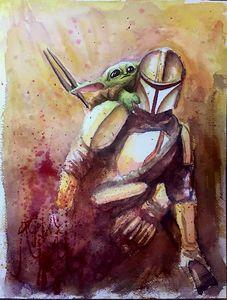 The Mandolorian and Baby Yoda