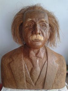 Albert einstein sculpture torso