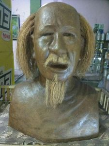 Sculpture torso maestro affandi