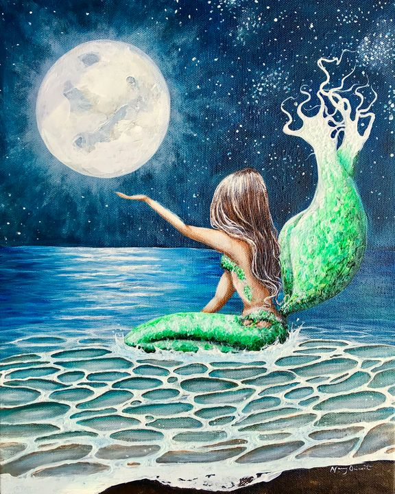 Mermaid Moon - Nancy Q Studio