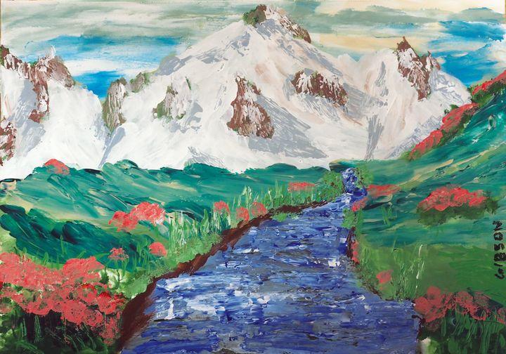 Mountain Stream - RGFingerPaint