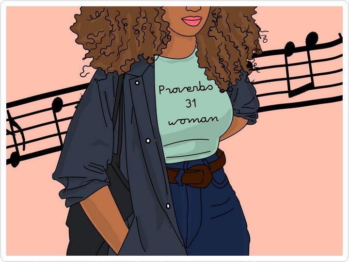 Proverbs 31 woman - Yhubee art