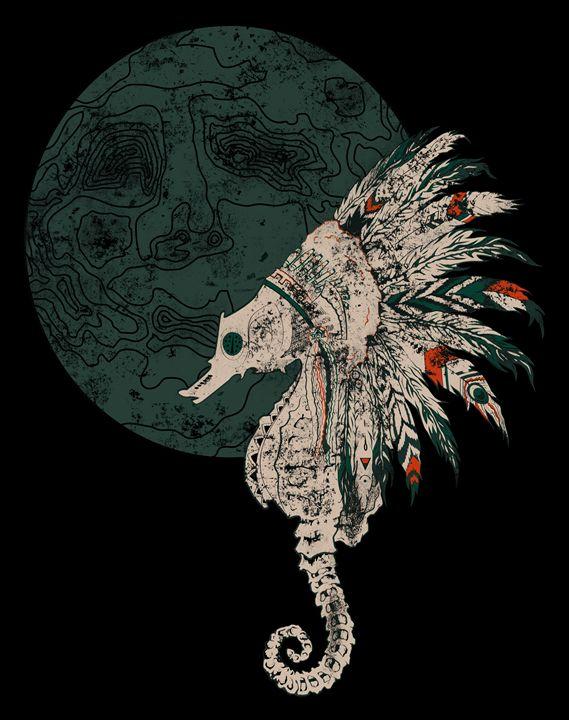 Native Seahorse Headdress - somatosis