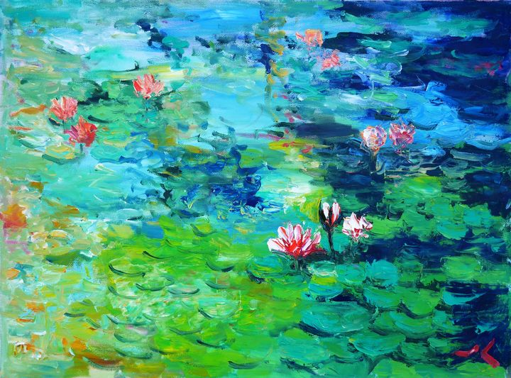 Summer Water Lilies - Julia Painting