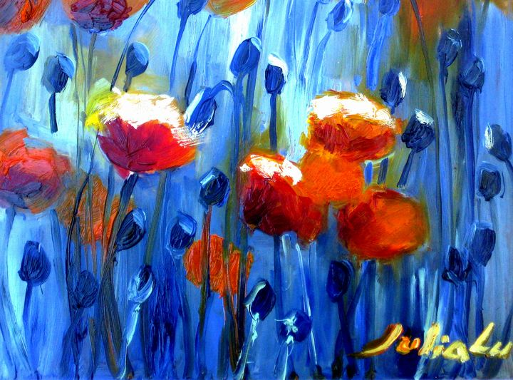 Red Poppies - Julia Painting