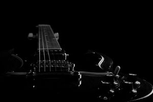 Low key image of Gibson SG Special