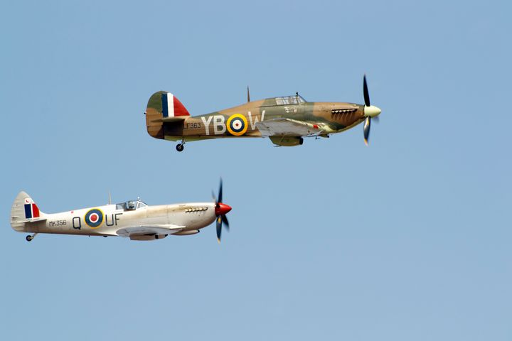 Spitfire/Hurricane fighter planes - Russell Field