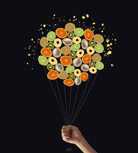 les fruits ballonnés