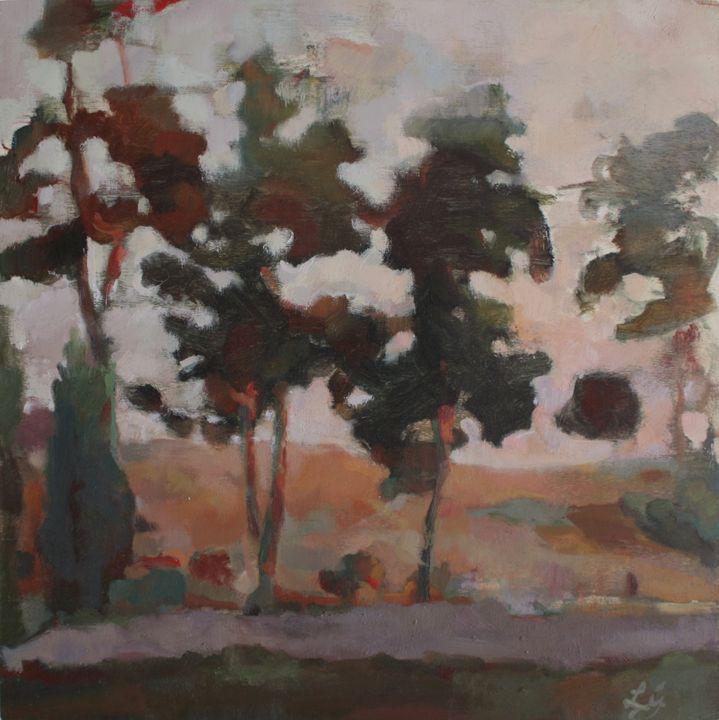 View Through the Trees, Tuscany - Luca Gordon